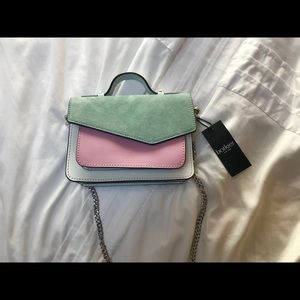 Botkier Suede/Leather Envelope Crossbody Bag